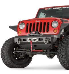 warn elite series stubby front hd black bumper [ 1500 x 1500 Pixel ]