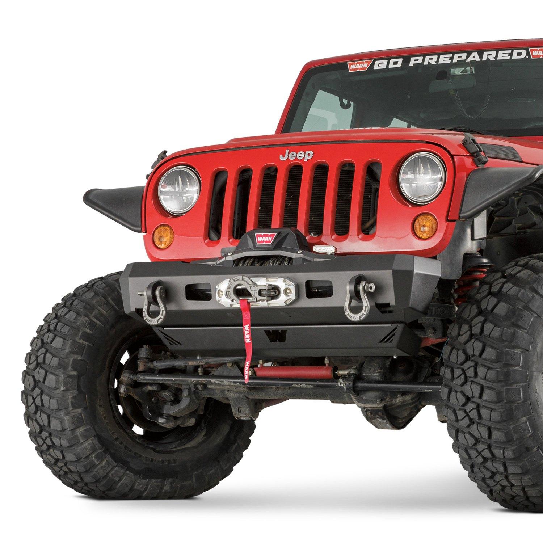 hight resolution of warn elite series stubby front hd black bumper