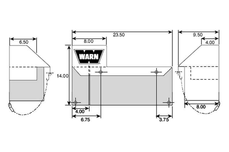 warn� 13918 - soft winch cover for use with xd9000, m8000 and m6000 -