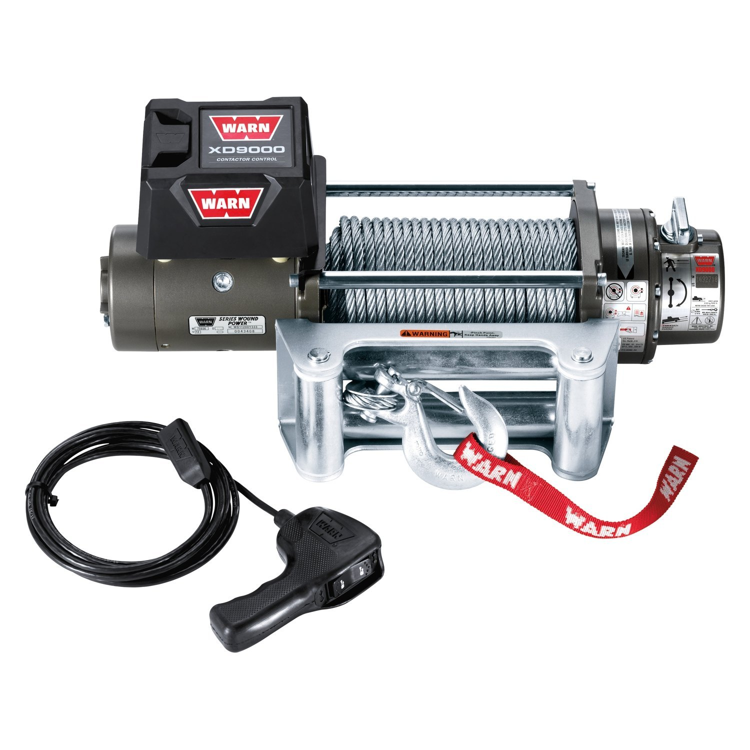 hight resolution of warn winch with wire rope