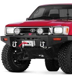 warn rock crawler full width front hd black bumper [ 1000 x 1000 Pixel ]