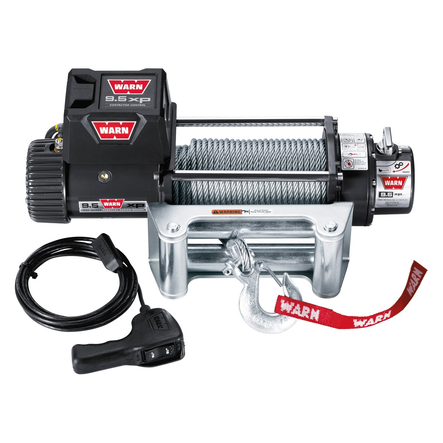 hight resolution of warn winch with synthetic spydura