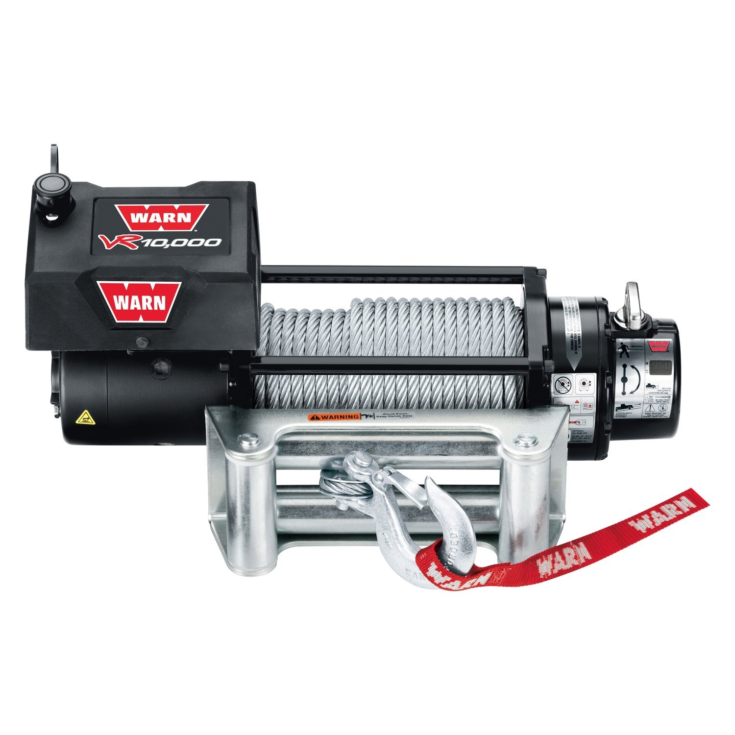 warn winch wiring diagram a2000 mercruiser alternator 86255 10 000 lbs vr entry level series self