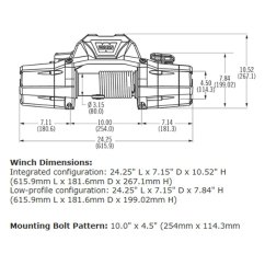 Warn Winch Bolt Pattern 455 Olds Jet Boat Wiring Diagram Zeon Series Electric Ropewarn With Spydura