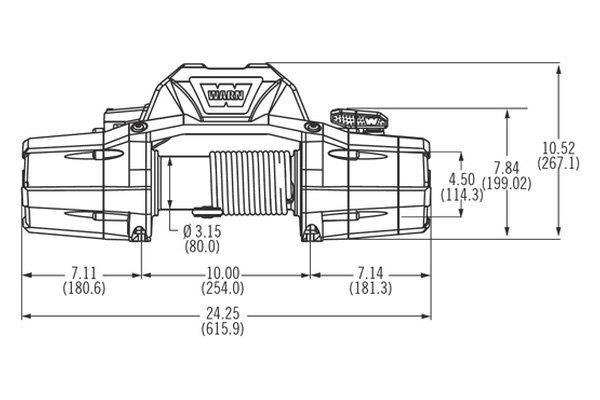 WARN 90260 8,000 lbs ZEON Series Multi-Mount Electric