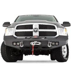 warn ascent full width front hd black bumper [ 1000 x 1000 Pixel ]