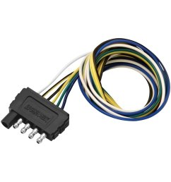 wesbar 707105 5 way flat wiring trailer wire wiring connector wesbar 6 pin wiring harness [ 1000 x 1000 Pixel ]