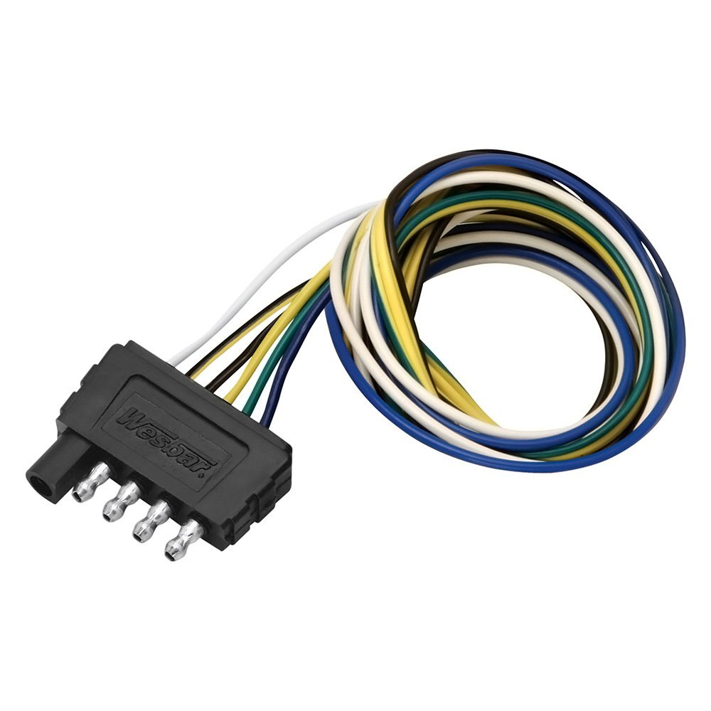 hight resolution of wesbar 707105 5 way flat wiring trailer wire wiring connector wesbar 6 pin wiring harness
