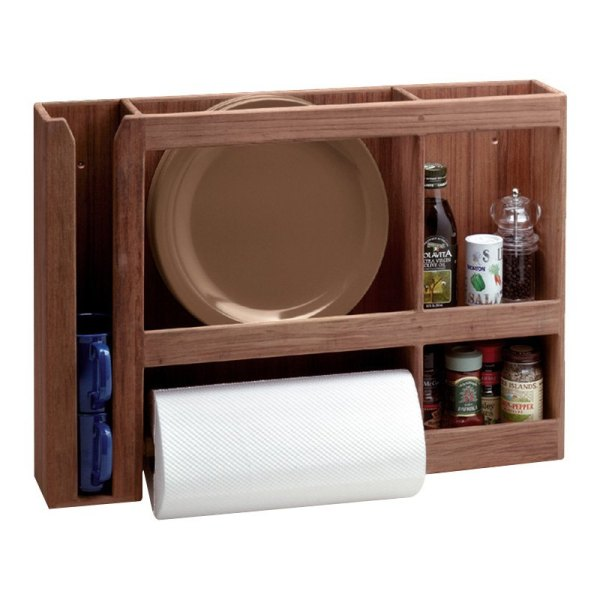 Whitecap 62402 - Teak Dish Cup Paper Towel Rack