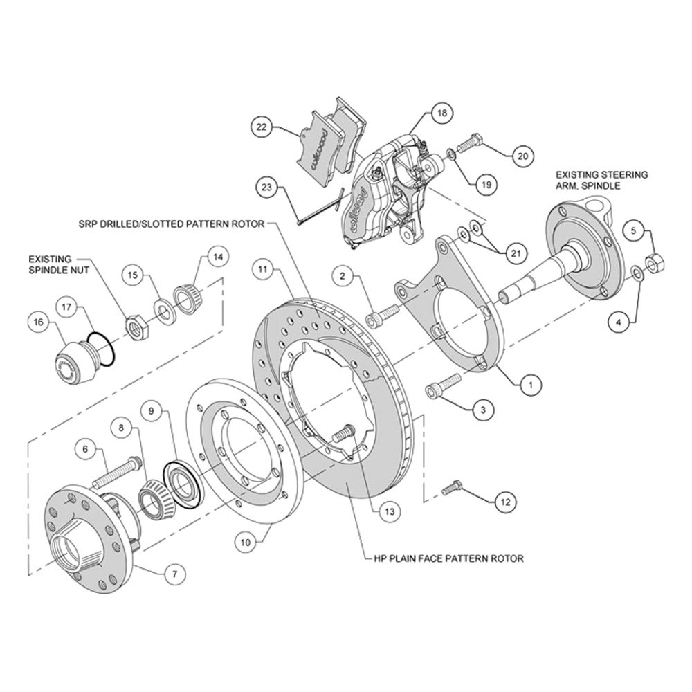 For Ford 1/2 Ton Pickup 37-47 Brake Kit Street Performance