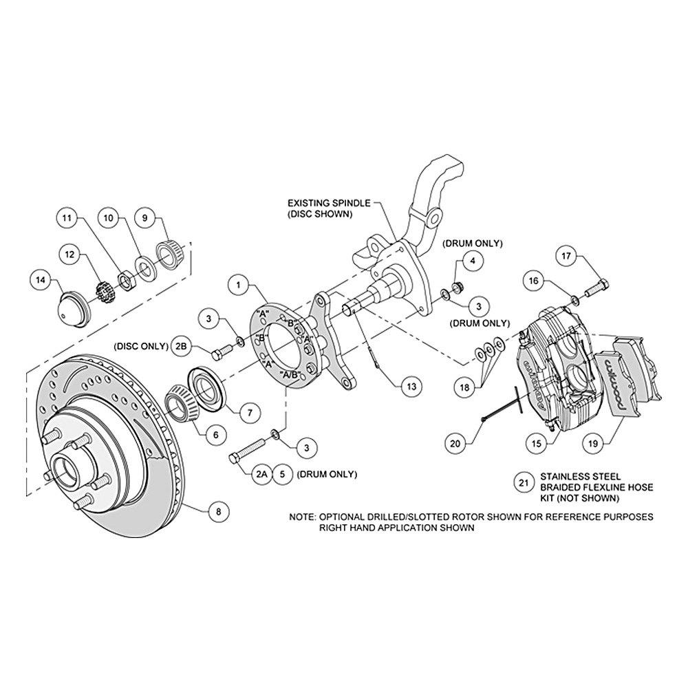 For Ford Mustang 65-70 Brake Kit Street Performance Plain