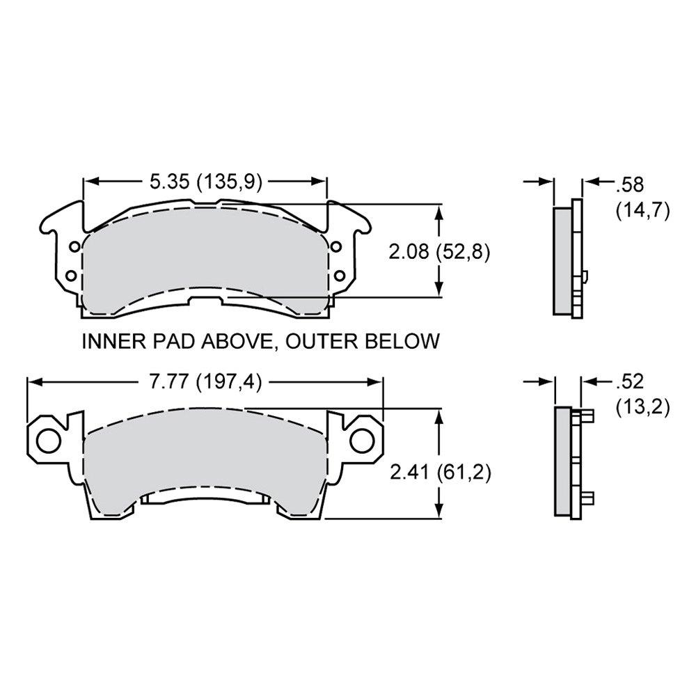 medium resolution of wilwood polymatrix e street performance front brake
