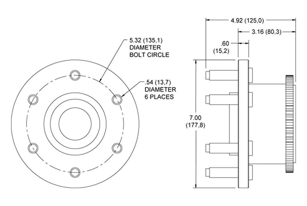 Wheel Hub Drawing