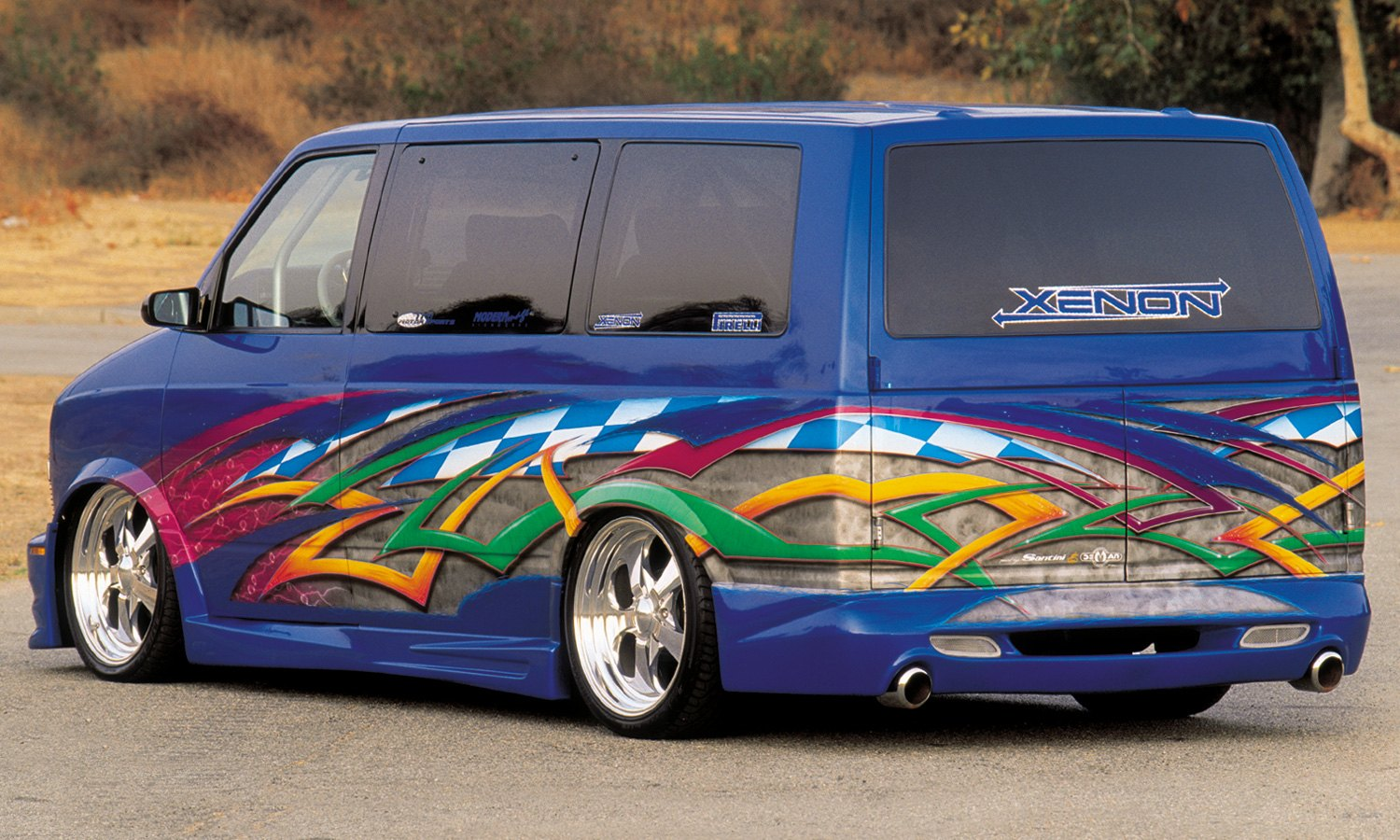 hight resolution of xenon body kit chevy astro rear view