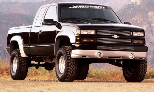 small resolution of xenon body kit chevy silverado side view