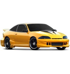 for chevy cavalier 1995 1999 xenon 11270 body kit unpainted [ 1000 x 1000 Pixel ]