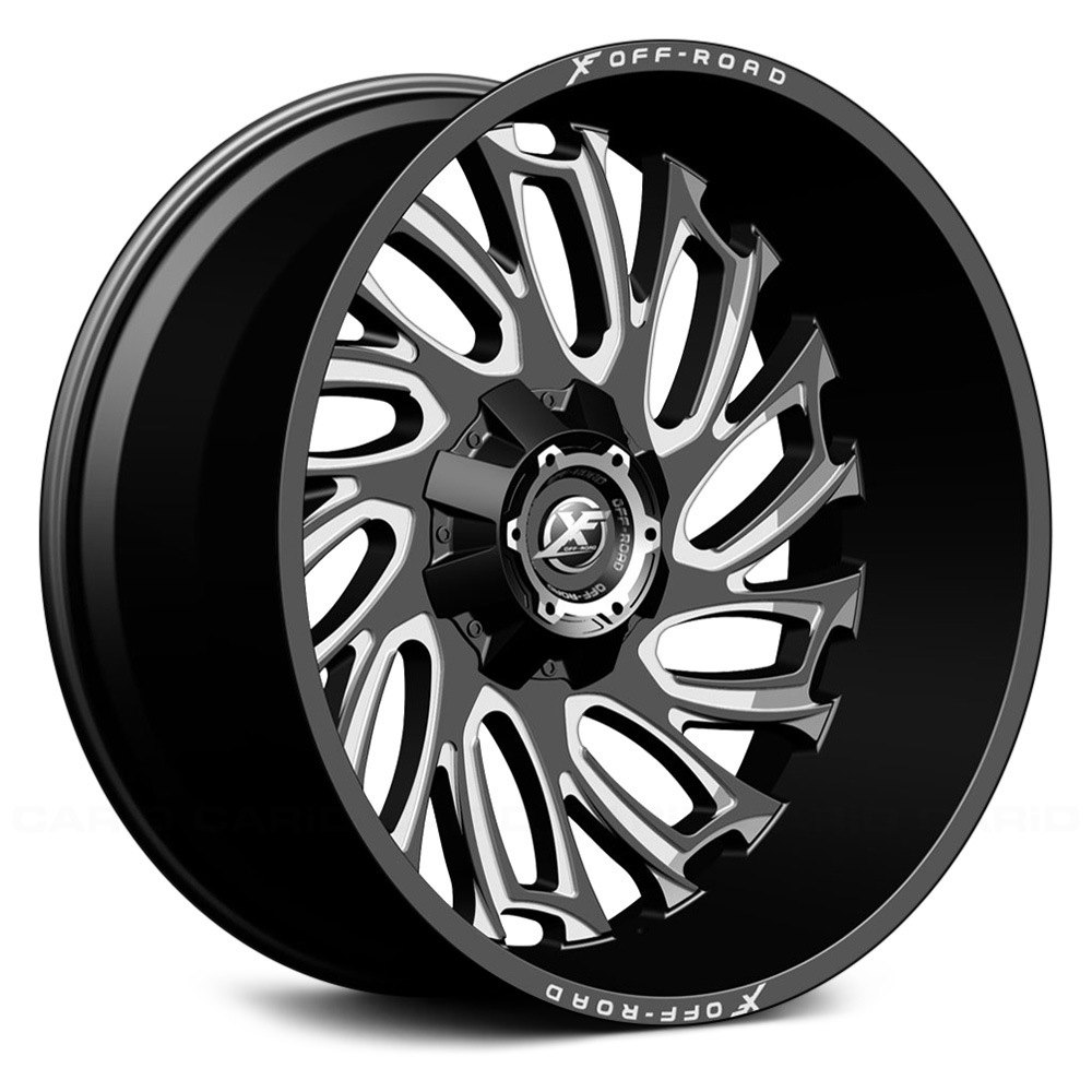 XF OFFROAD XF207 Wheels  Black with Milled Window Rims