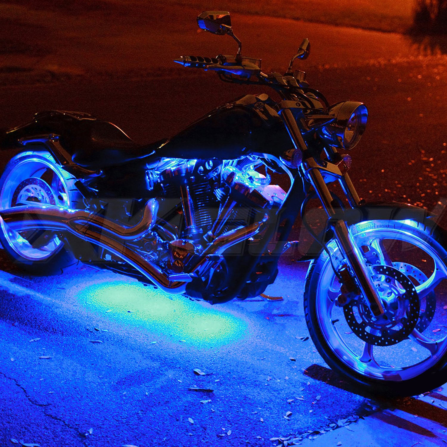 Blue Led Motorcycle Lights