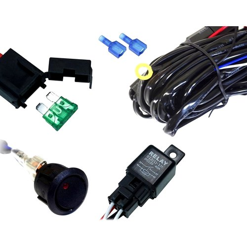 small resolution of xprite off road wiring harness with round black switch