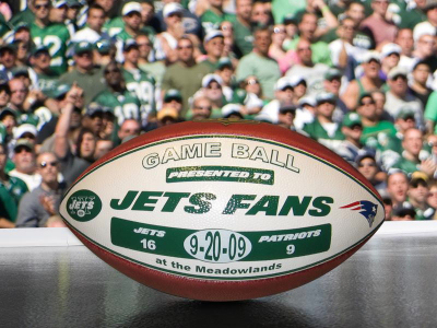 Game Ball Presented to Jets Fans used under Fair Use provisions