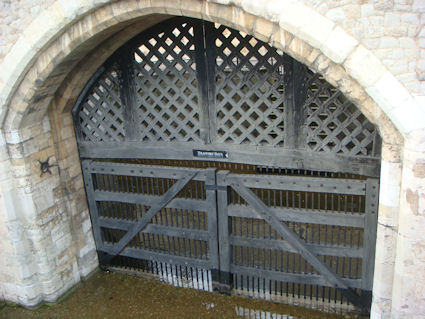Traitor's Gate as seen from the Tower of London