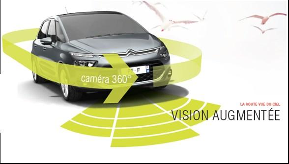 Système de vision augmentée avec Caméra à 360° (*) Disponible à partir Nov/2013