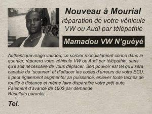 Un Télépathe Mamadou répare ta Volkswagen