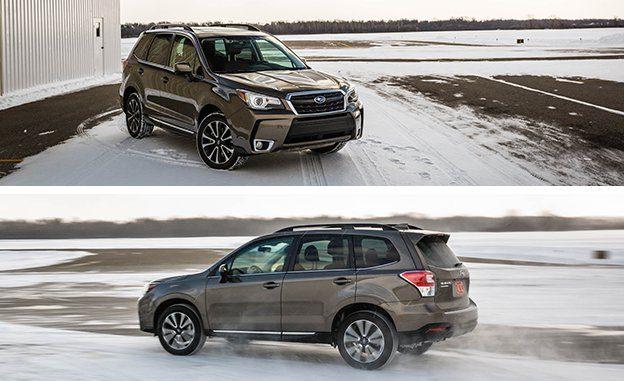 Subaru Forester 2017 dans la neige