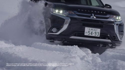 Mitsubishi Outlander 2017 dans la Neige
