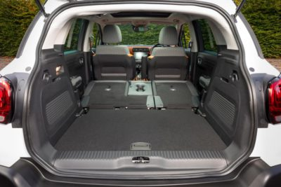 Citroën C3 Aircross - sièges de coffre abaissés