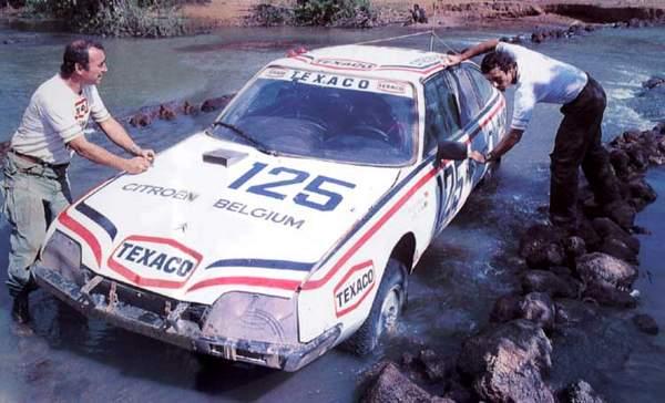 jacky Ickx et Claude Brasseur sur le rallye Paris Dakar 1981