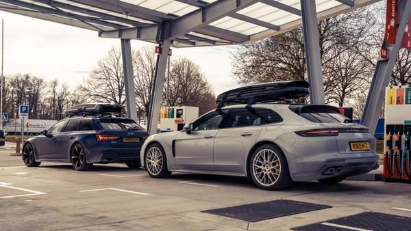 Audi RS6 Avant et Porsche Panamera Turismo