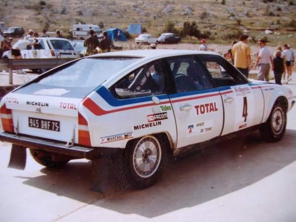 Citroën CX au rallye des 1000 pistes 1981