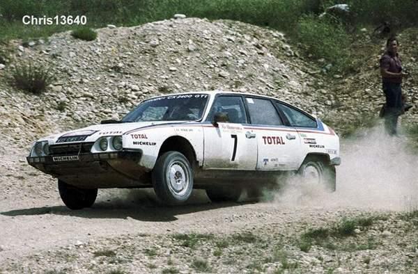 Patrick Lapie s'impose sur le rallye 1000 pistes 1981 au volant de sa CX d'usine
