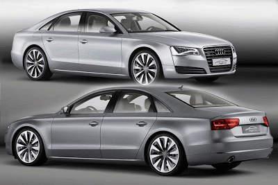 Audi A8 Hybrid Concept Car 2010