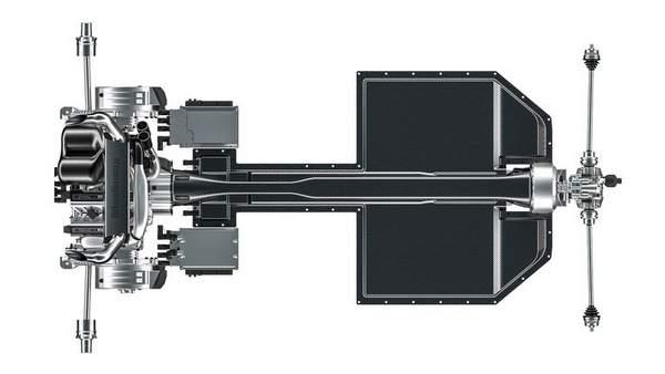 Groupe transmission de la Koenigsegg Gemera