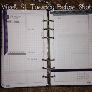 Week 51 Tuesday Before Shot