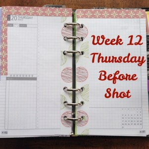 Week 12 Thursday Before Shot