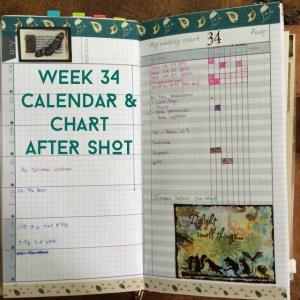 Week 34 Calendar & Chart After Shot