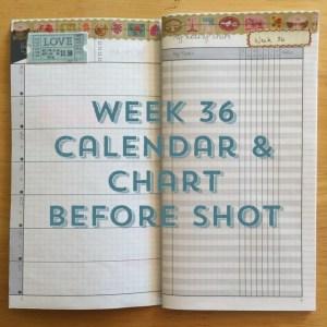 Week 36 Calendar & Chart Before Shot