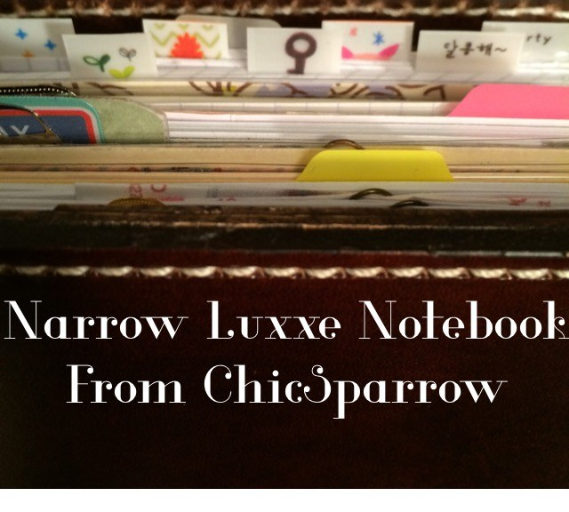 Narrow Luxxe Notebook from ChicSparrow