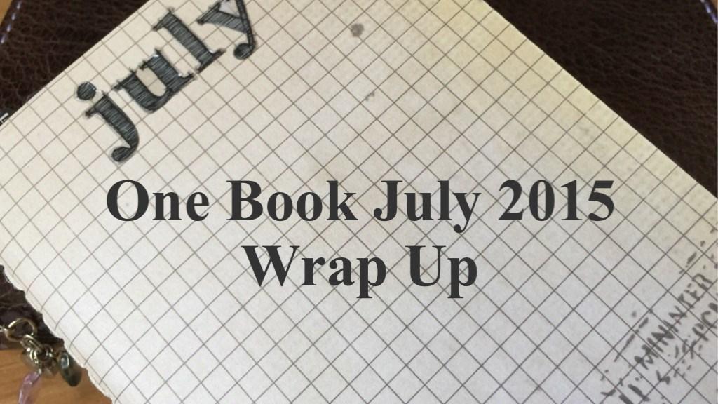 #onebookjuly2015 Wrap Up FI
