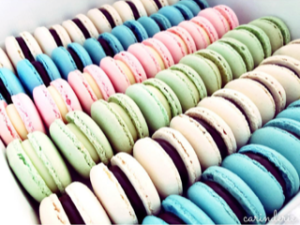 Macarons – standard colours (priced per dozen = 12 pieces)
