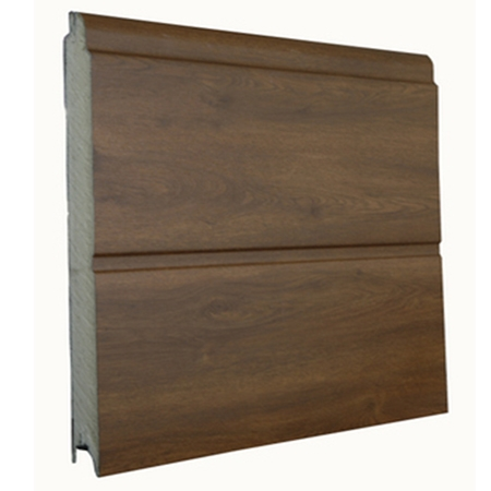 Sunset porta basculante linea acciaio simil legno  Porte