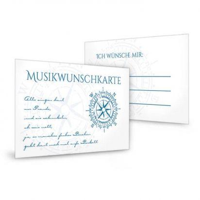 Maritime Danksagung zur Hochzeit als Postkarte in