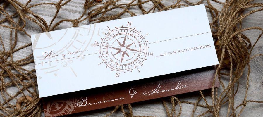 Maritime Hochzeitskarten selbst gestalten  Cariokarten