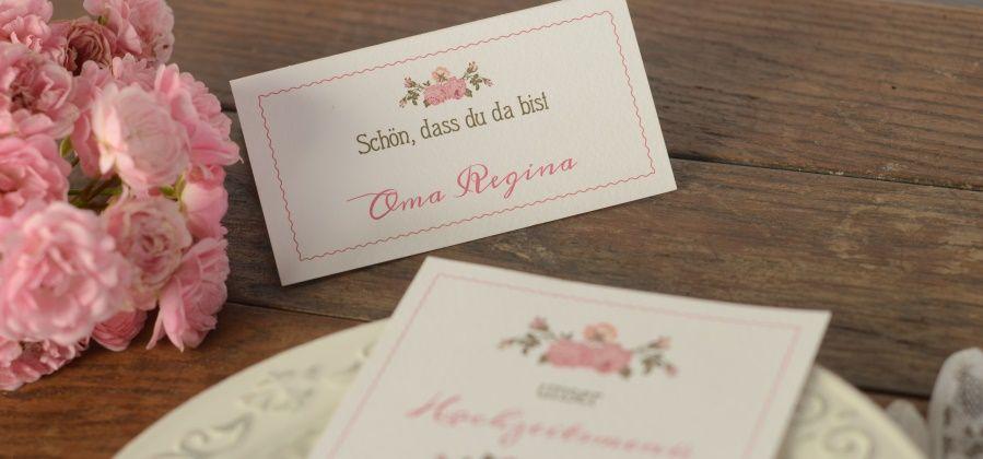 Tischkarten fr Hochzeit selbst gestalten  Cariokarten