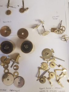 Fusee carriage clock parts
