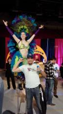 Showgirl on Stilts Calgary for Trade Show
