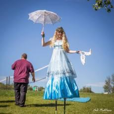 Alice in Wonderland looking for her Rabbit in Calgary